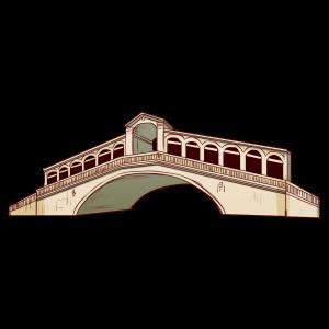 イタリアのカナル・グランデ大河にかけられた最も古い橋。
