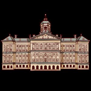 オランダ、アムステルダムの宮殿。王宮。