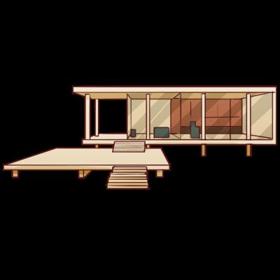 モダニズム建築家ミース・ファン・デル・ローエによる名建築。アメリカ、シカゴ。