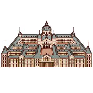 スペイン、マドリードに建てられた修道院。宮殿、博物館、図書館、霊廟を兼ねる。世界遺産。
