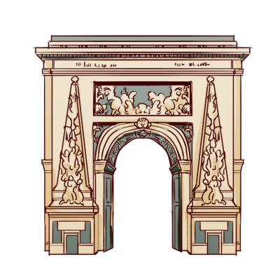 フランス、パリの凱旋門。