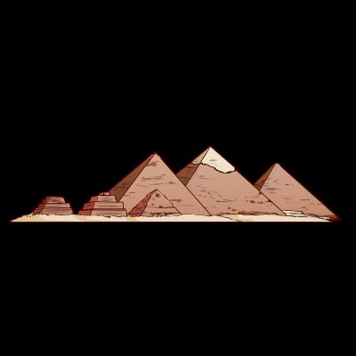 エジプト、ギザの3大ピラミッド。クフ王のピラミッド。世界遺産。