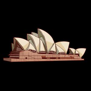 オーストラリア、シドニーにある歌劇場、コンサートホール。世界遺産。