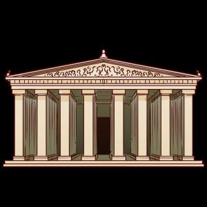 古代ギリシア時代にアテネのアクロポリスに建てられた。