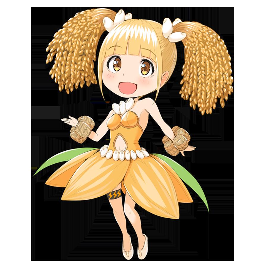 米を擬人化したキャラクター素材