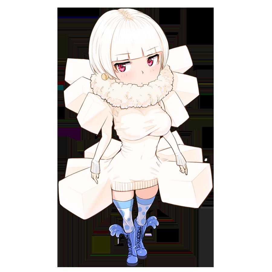 豆腐を擬人化したキャラクター素材
