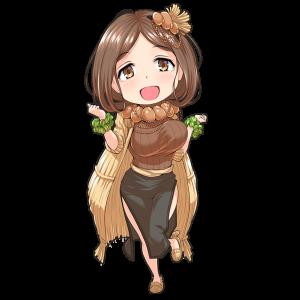 納豆を擬人化したキャラクター素材