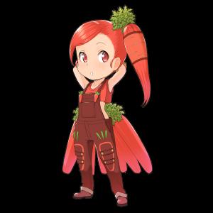 にんじんを擬人化したキャラクター素材