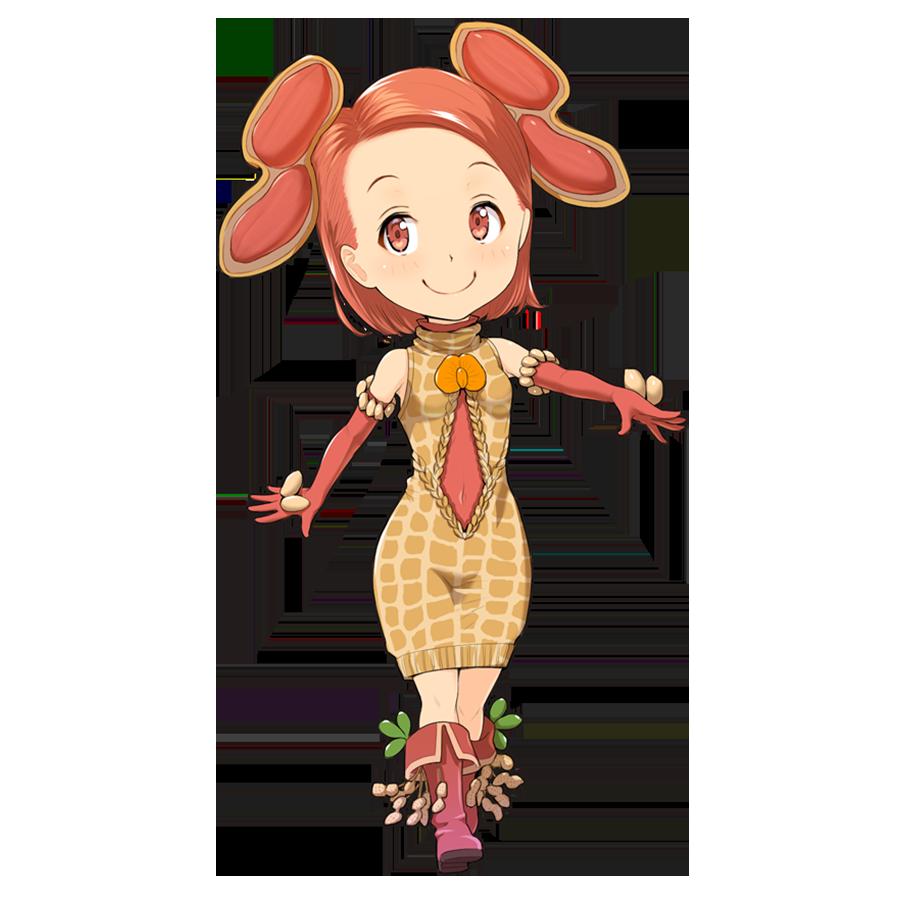 ピーナッツを擬人化したキャラクター素材