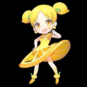 レモンを擬人化したキャラクター素材