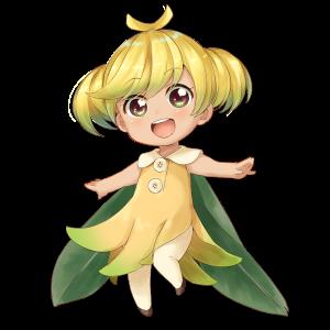 バナナを擬人化したキャラクター素材