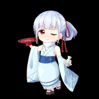 日本酒を擬人化したキャラクター素材