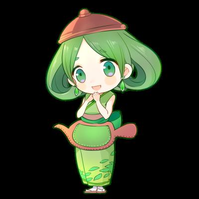 お茶を擬人化したキャラクター素材