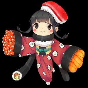 寿司をしたキャラクター素材