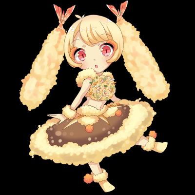 天ぷらをしたキャラクター素材