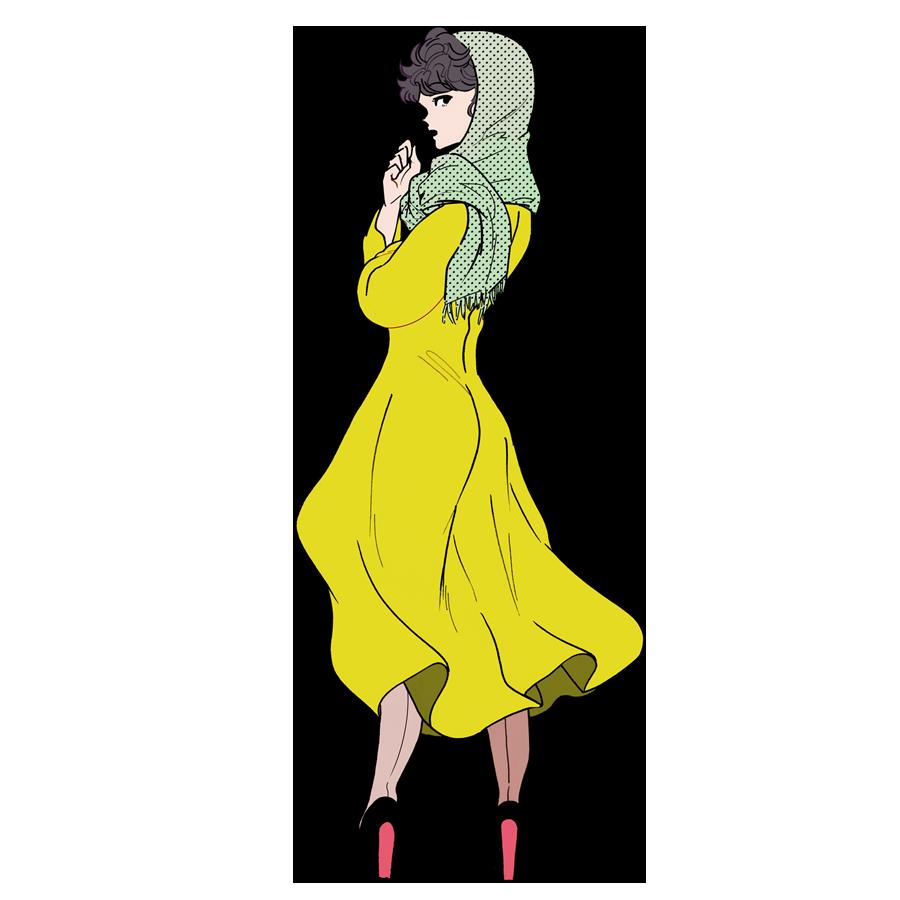懐かしファッション、真知子巻き/50年代、「君の名は」で流行