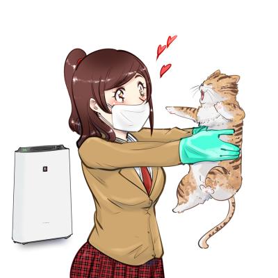猫アレルギーだけど猫が好き。空気清浄機