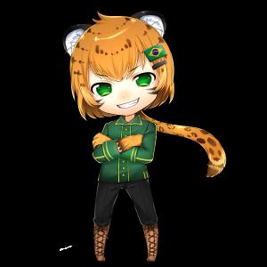 ジャガー(ブラジル)をモチーフにしたキャラクター素材