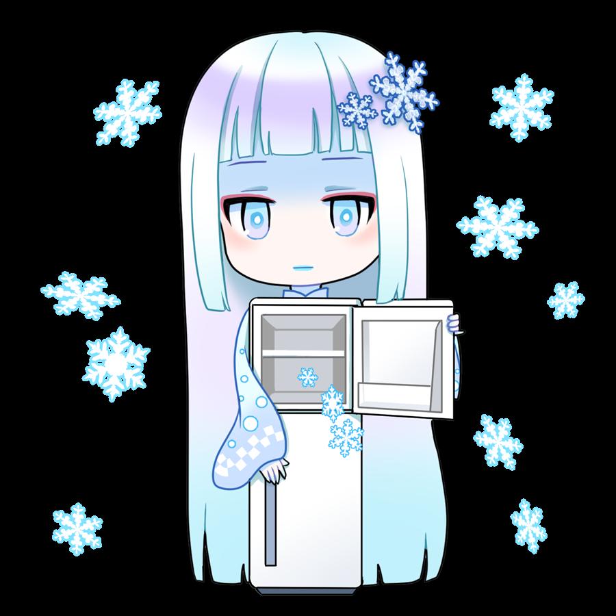 冷蔵庫を擬人化したキャラクター素材