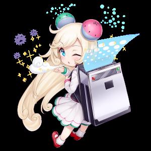 空気清浄機を擬人化したキャラクター素材