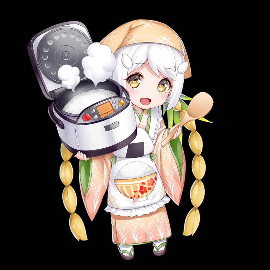 炊飯器を擬人化したキャラクター素材