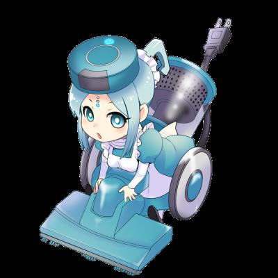 掃除機を擬人化したキャラクター素材