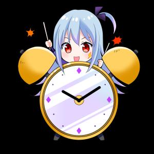 時計を擬人化したキャラクター素材