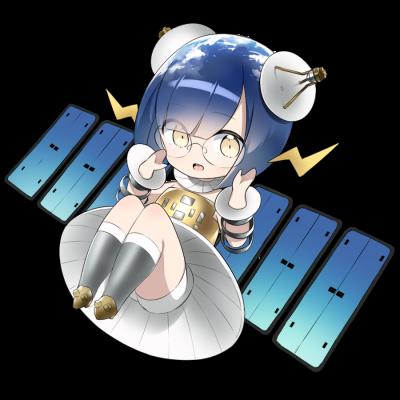 人工衛星を擬人化したキャラクター素材