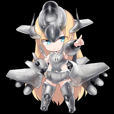 戦闘機を擬人化したキャラクター素材