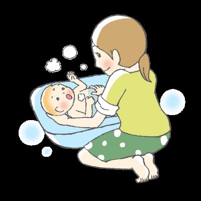 赤ちゃん、育児、ママ、お風呂
