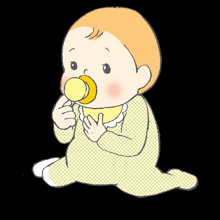 赤ちゃん、育児、新生児服、おしゃぶり