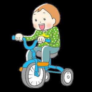 幼児、育児、3輪車