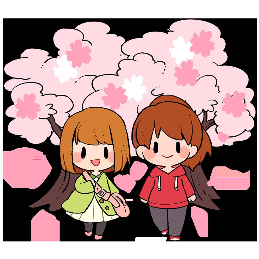 行楽、春、桜