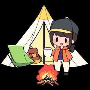 行楽、テント、たき火