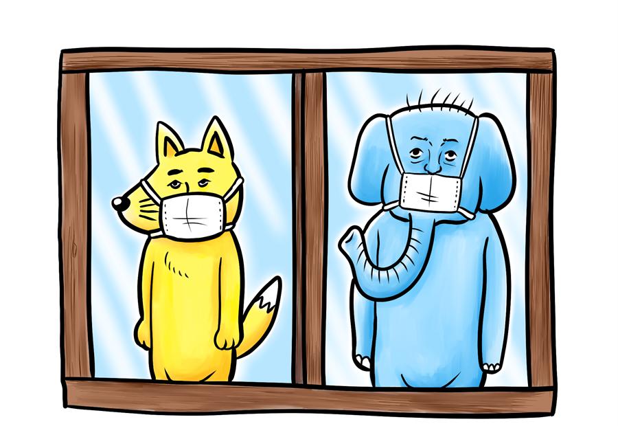 コロナ、犬、象