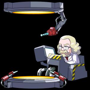 SF、物質転送装置と科学者