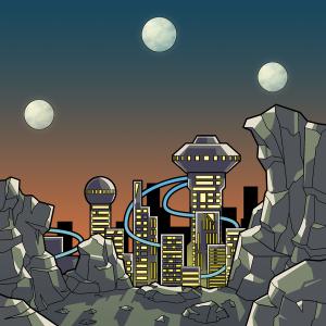 SF、月が3つある世界
