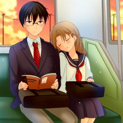 恋愛、通学、電車